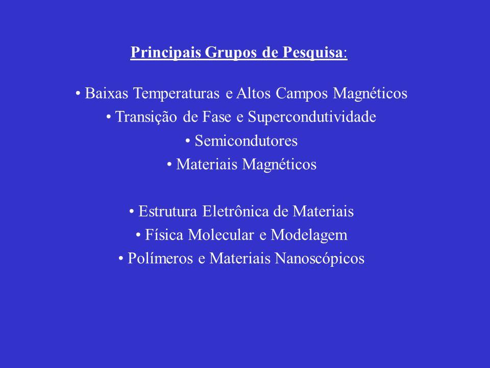 Principais Grupos de Pesquisa: