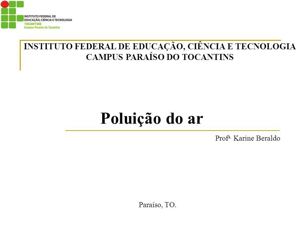 Poluição do ar INSTITUTO FEDERAL DE EDUCAÇÃO, CIÊNCIA E TECNOLOGIA