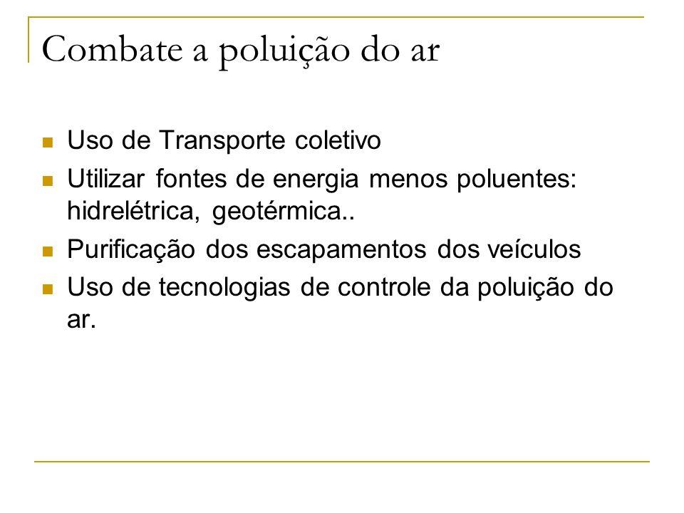 Combate a poluição do ar