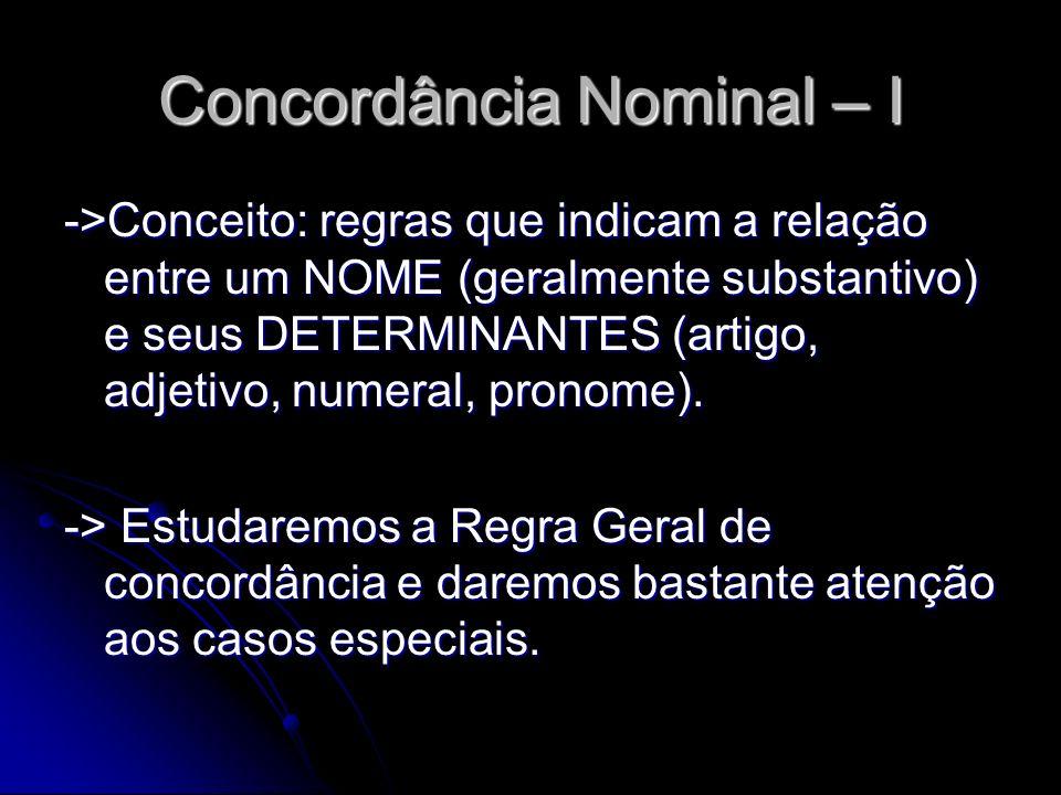 Concordância Nominal – I
