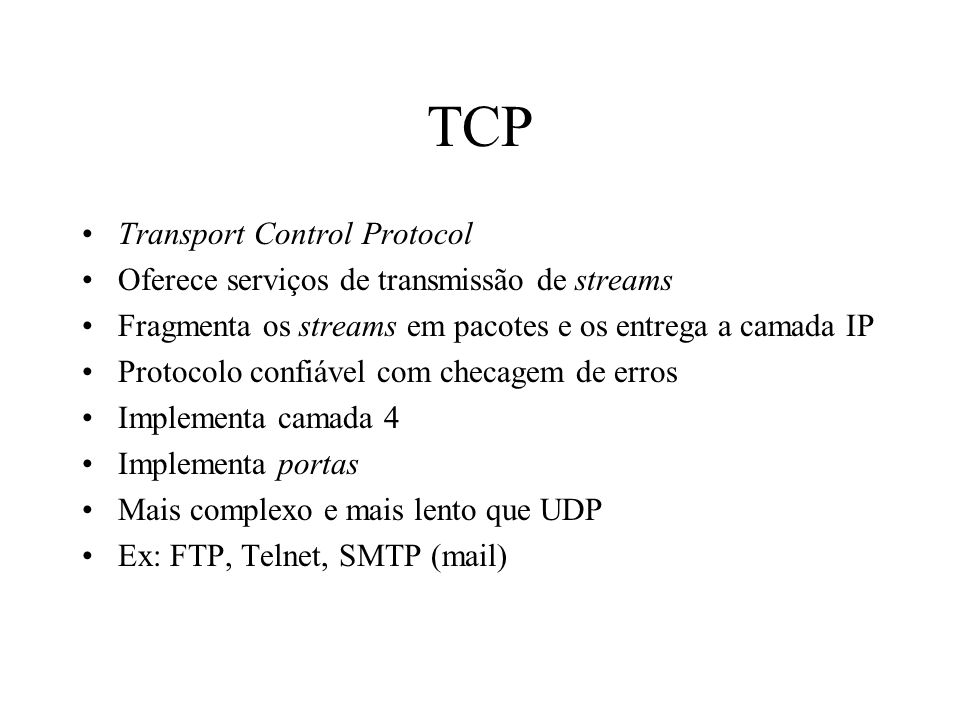 TCP Transport Control Protocol