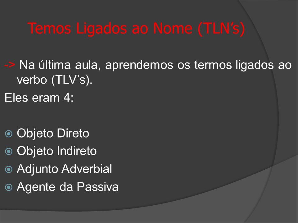 Temos Ligados ao Nome (TLN's)