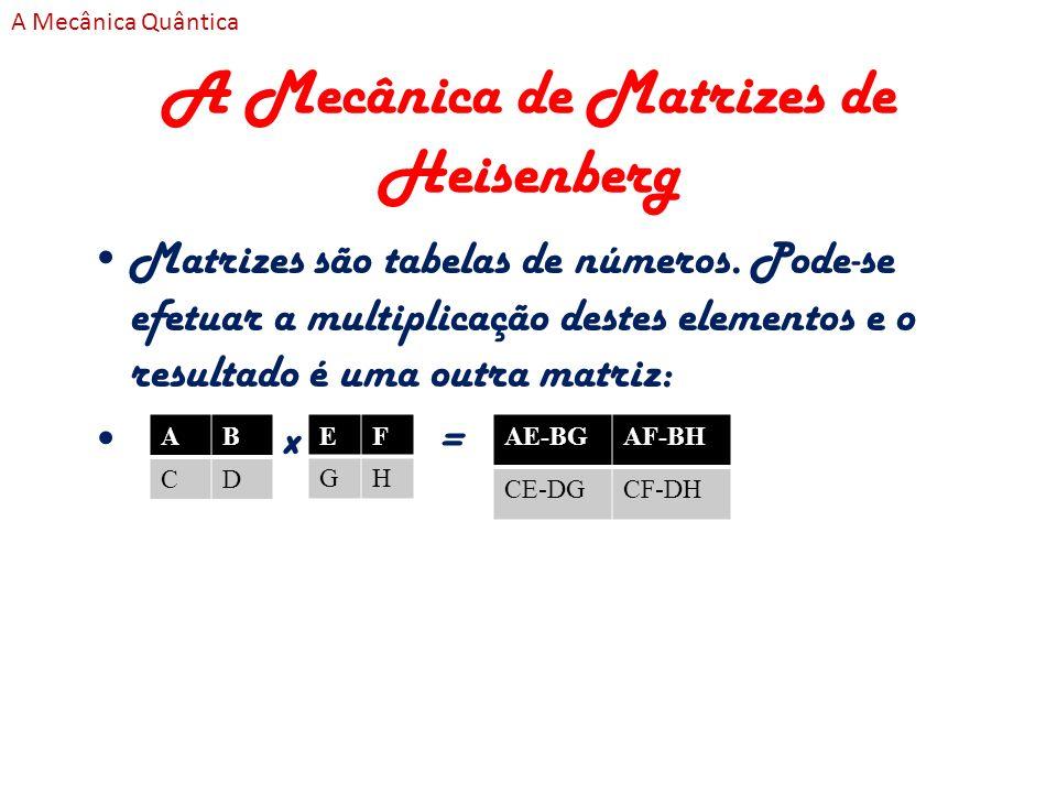 A Mecânica de Matrizes de Heisenberg