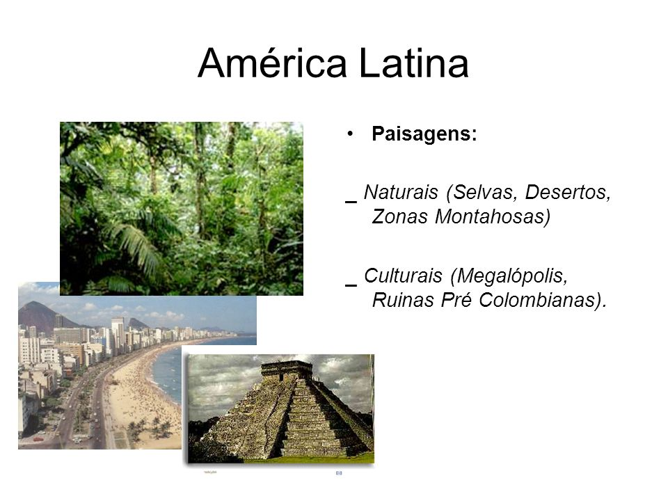 América Latina Paisagens: