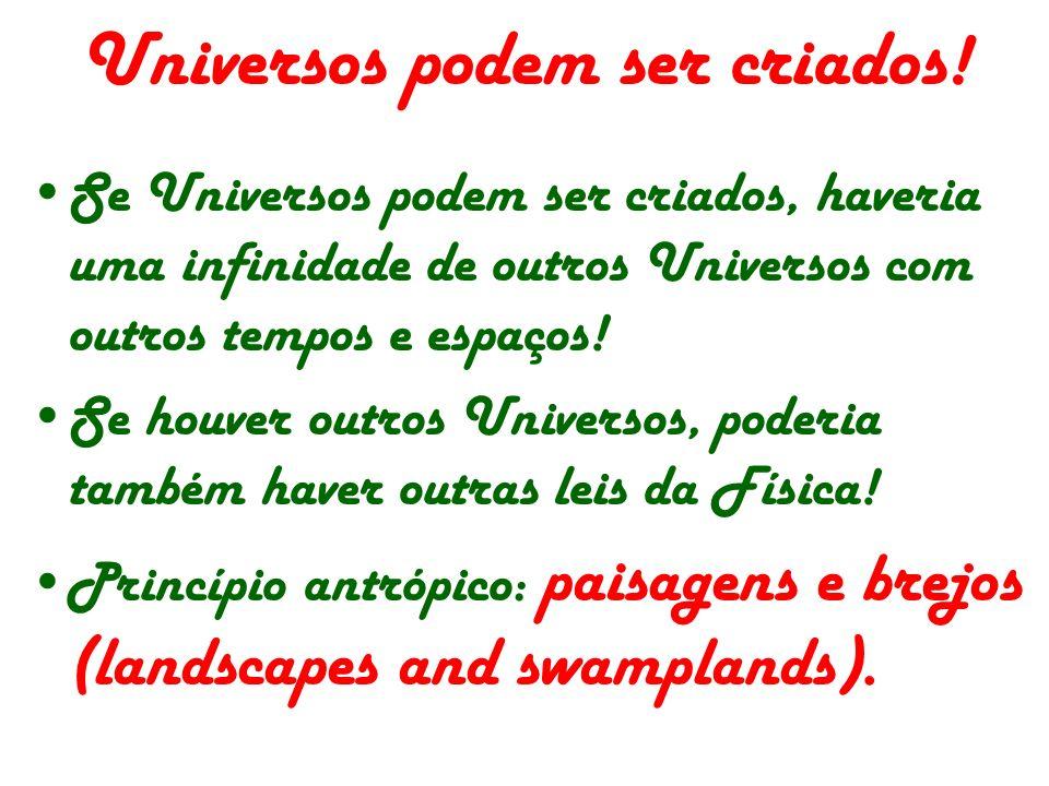 Universos podem ser criados!