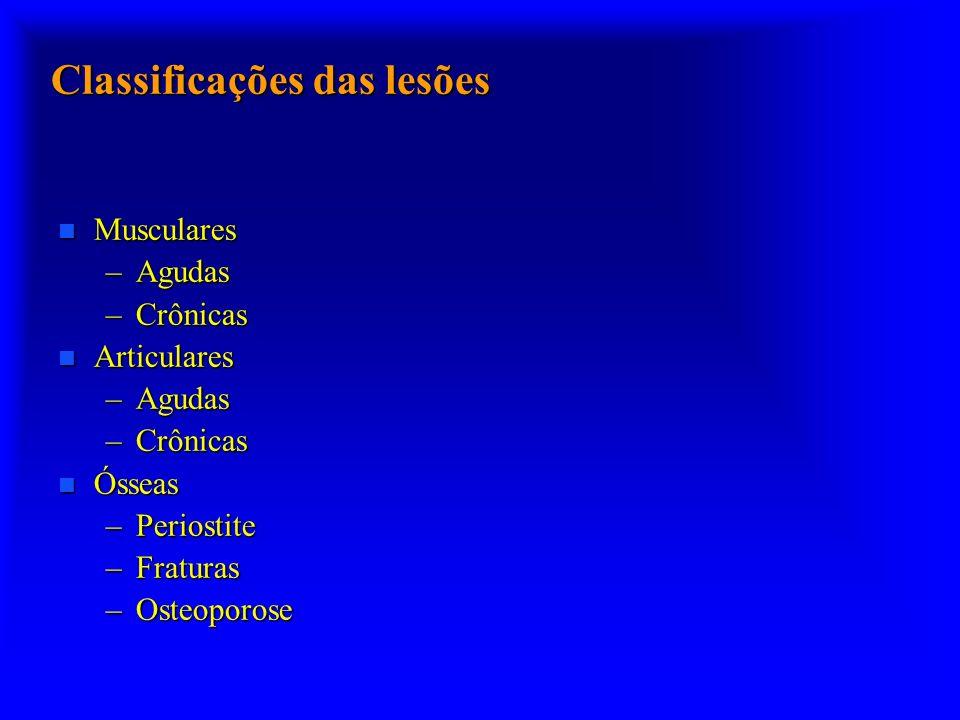 Classificações das lesões