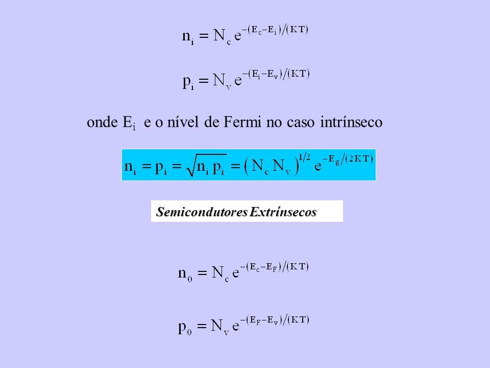 onde Ei e o nível de Fermi no caso intrínseco