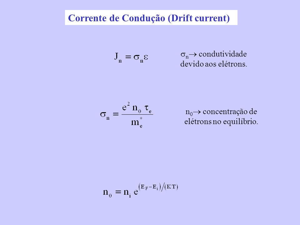 Corrente de Condução (Drift current)