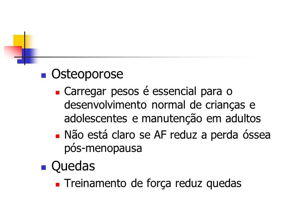 Osteoporose Carregar pesos é essencial para o desenvolvimento normal de crianças e adolescentes e manutenção em adultos.