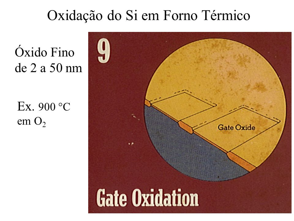 Oxidação do Si em Forno Térmico