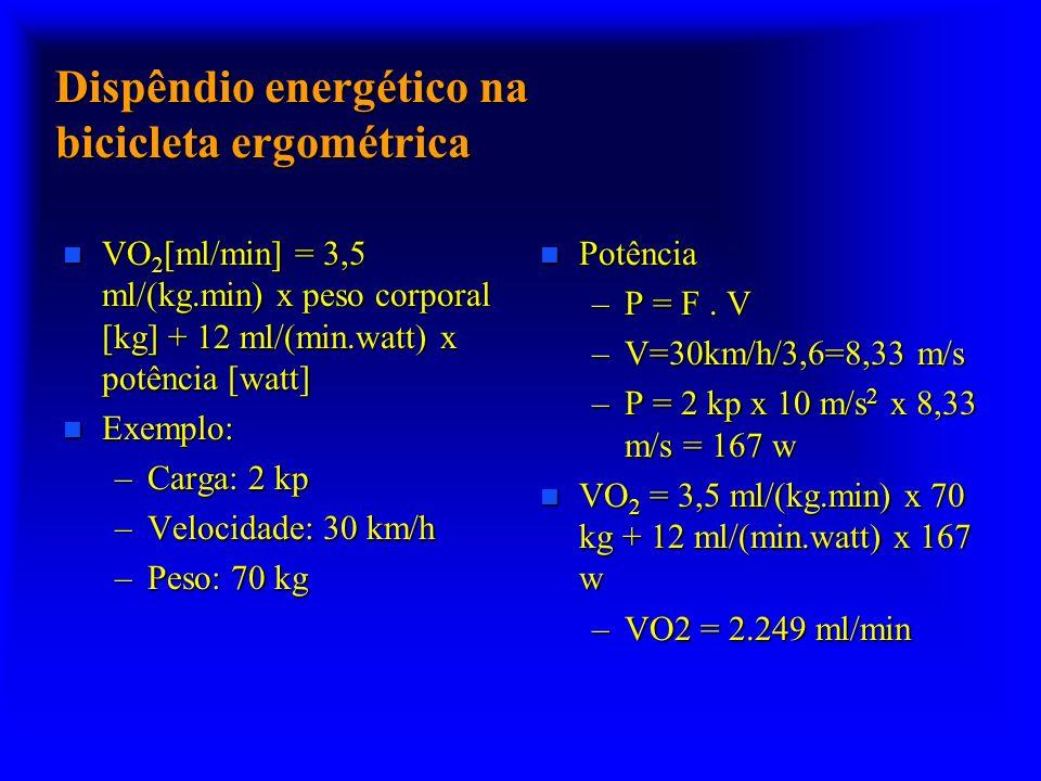 Dispêndio energético na bicicleta ergométrica