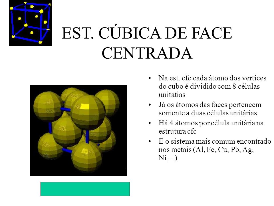 EST. CÚBICA DE FACE CENTRADA