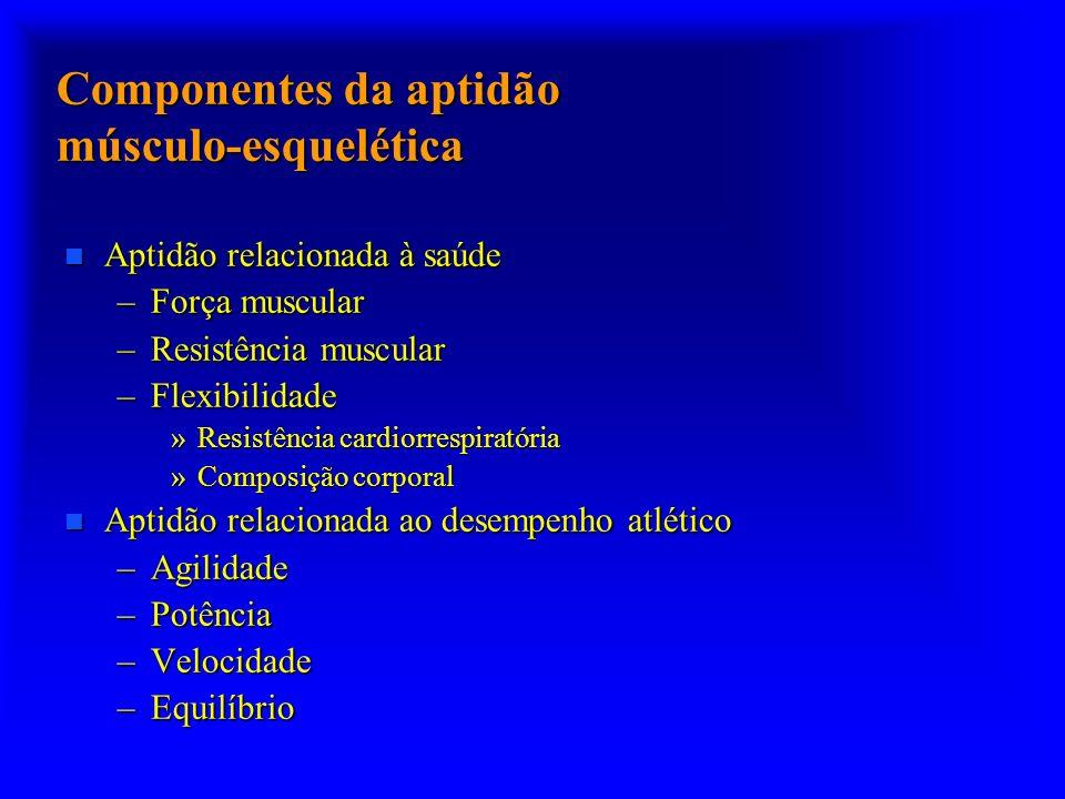 Componentes da aptidão músculo-esquelética