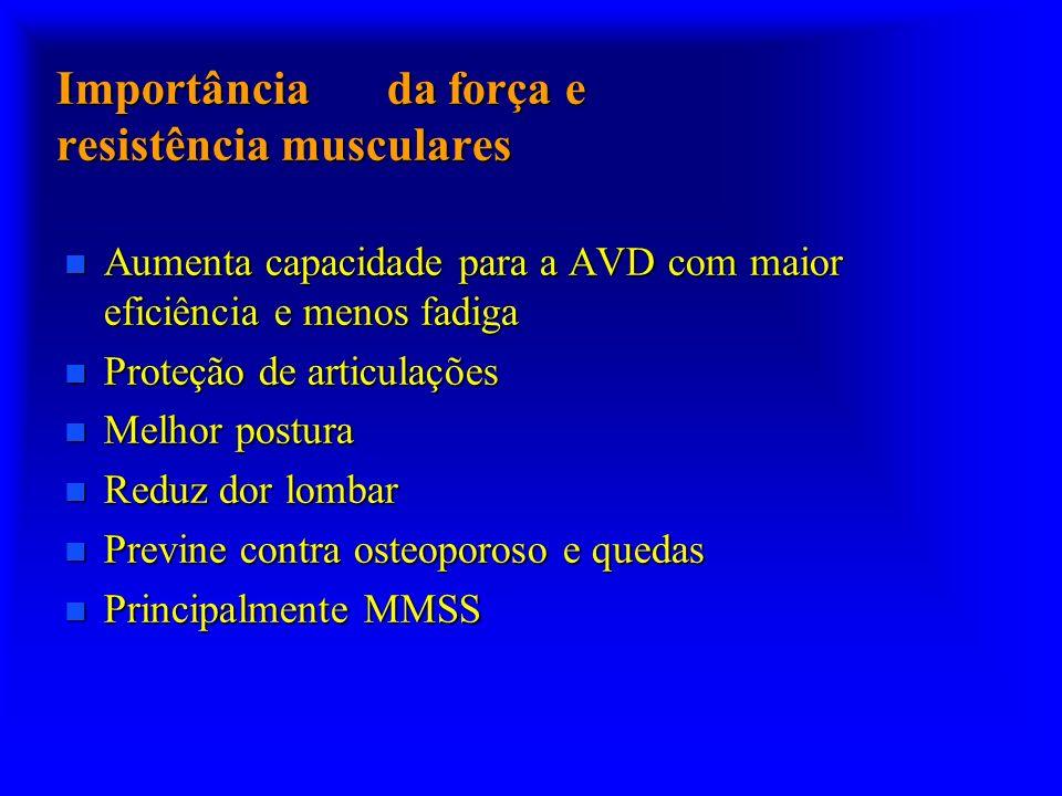 Importância da força e resistência musculares