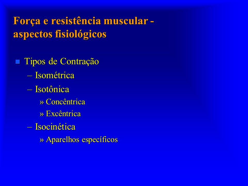 Força e resistência muscular - aspectos fisiológicos