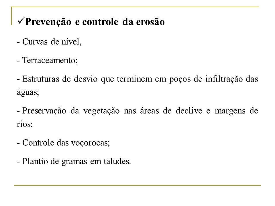 Prevenção e controle da erosão