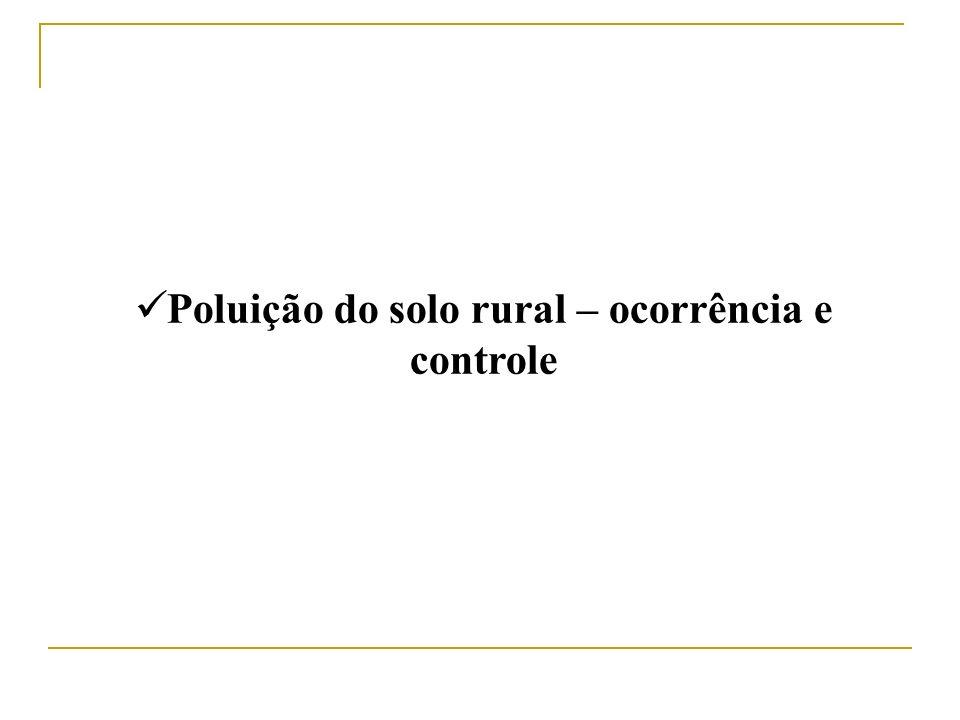 Poluição do solo rural – ocorrência e controle