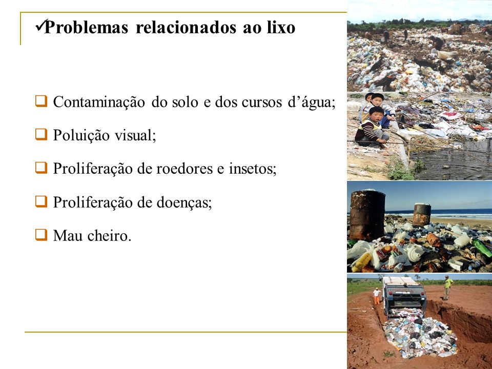 Problemas relacionados ao lixo