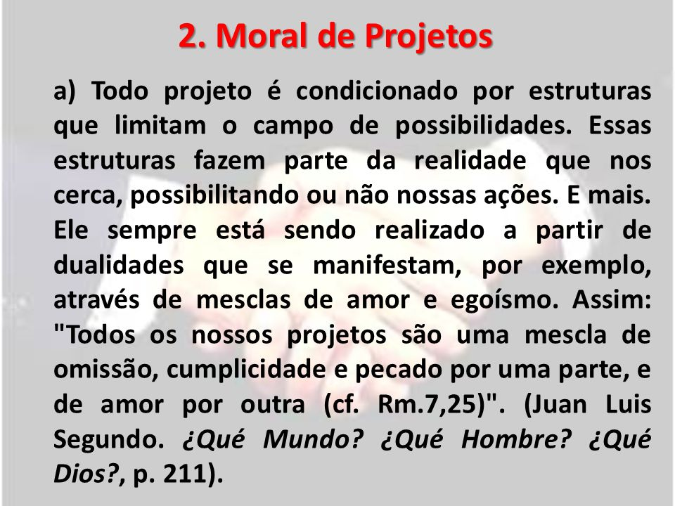 2. Moral de Projetos