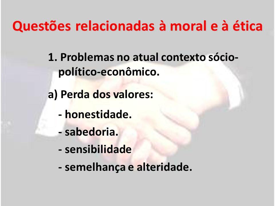 Questões relacionadas à moral e à ética