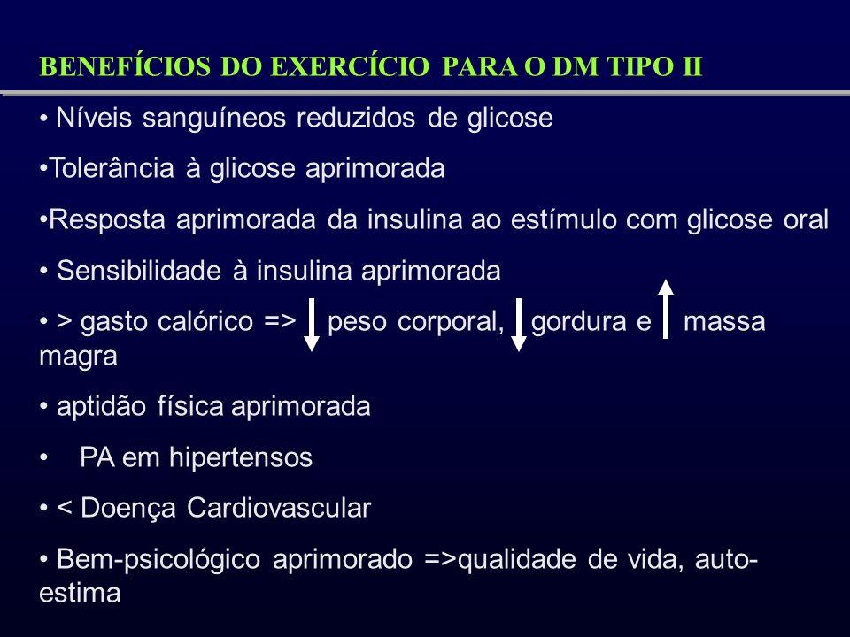 BENEFÍCIOS DO EXERCÍCIO PARA O DM TIPO II