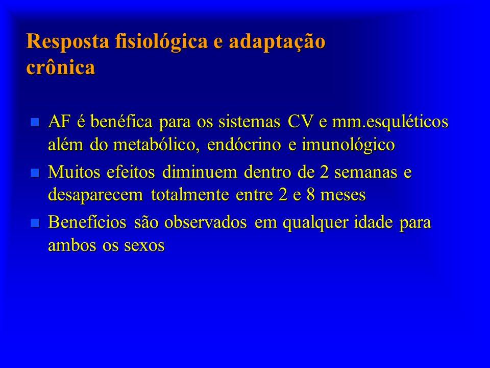 Resposta fisiológica e adaptação crônica
