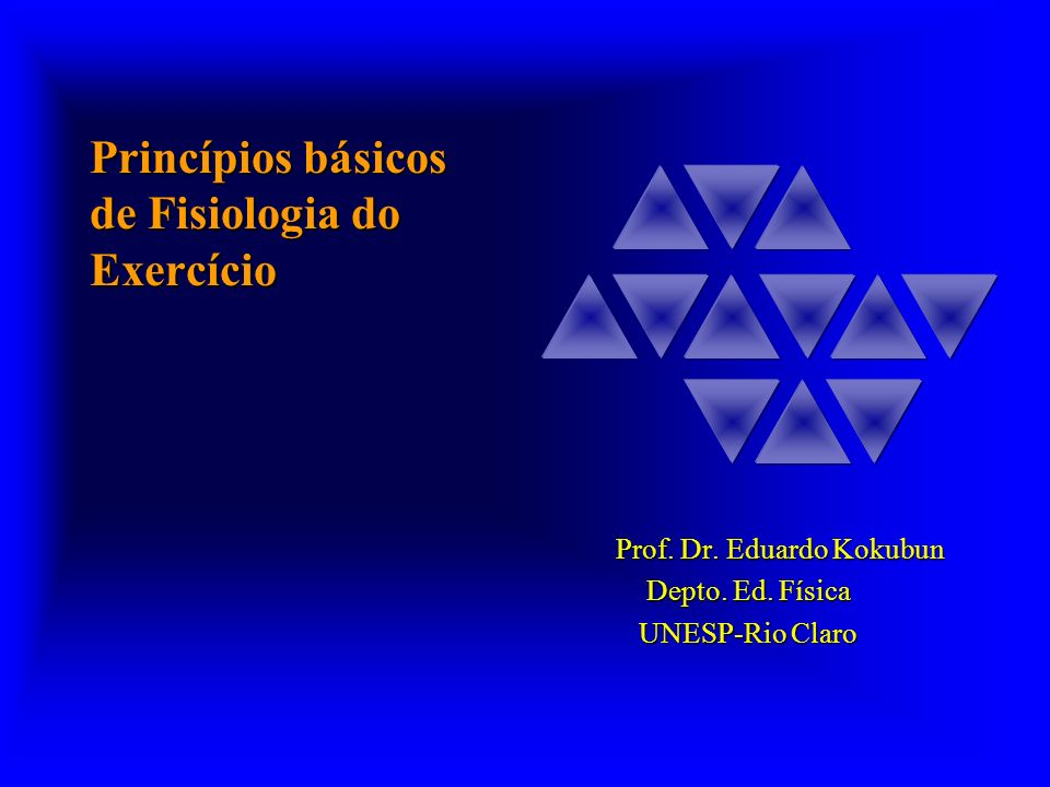 Princípios básicos de Fisiologia do Exercício