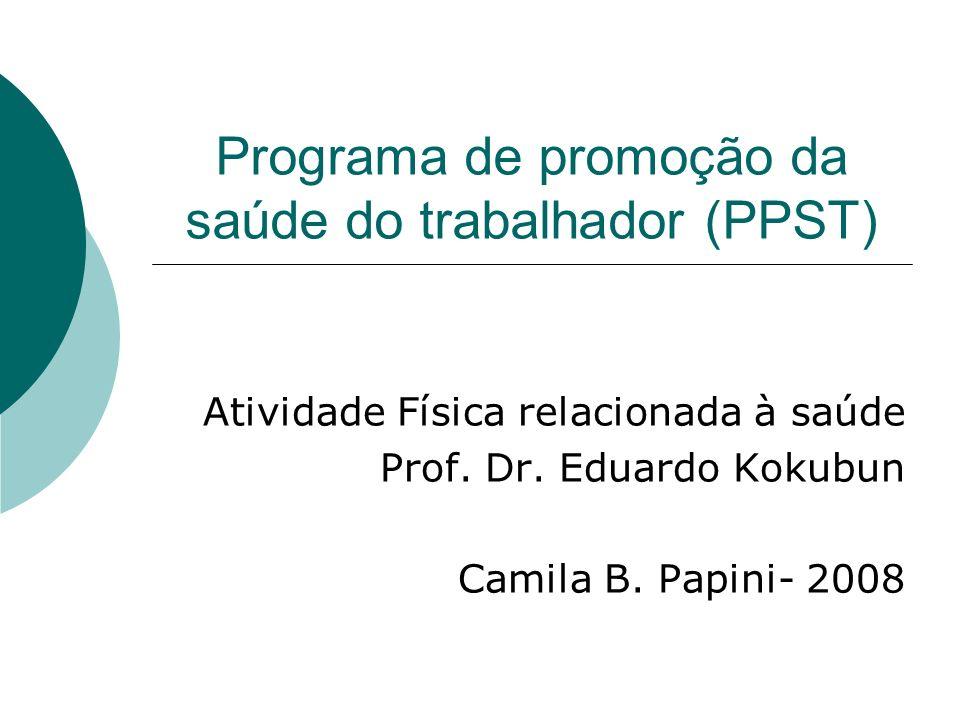 Programa de promoção da saúde do trabalhador (PPST)