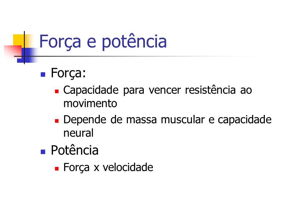 Força e potência Força: Potência