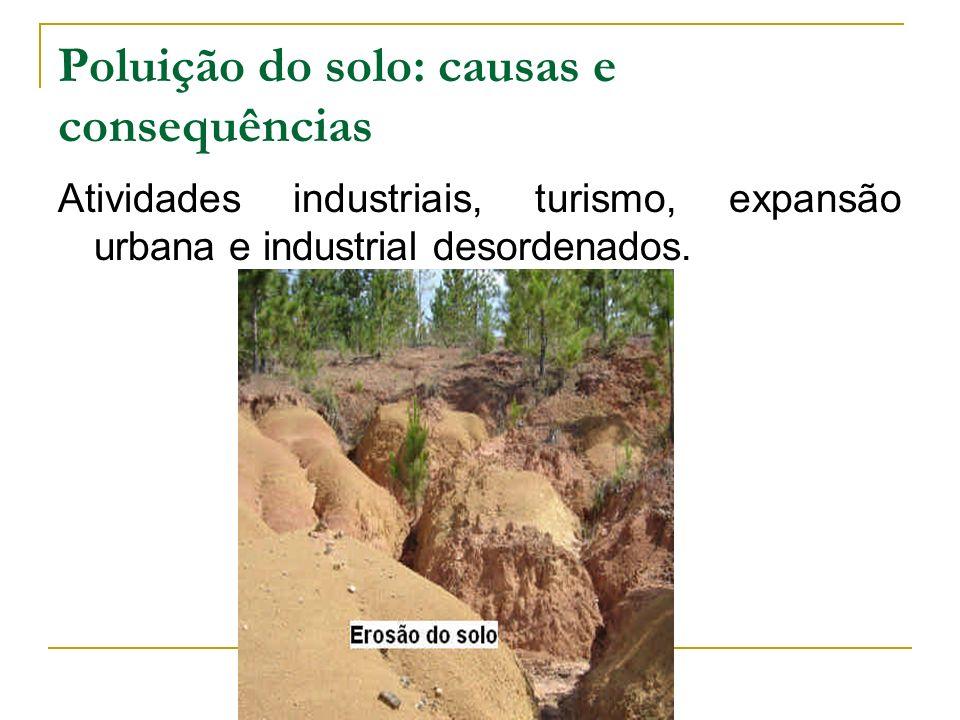 Poluição do solo: causas e consequências