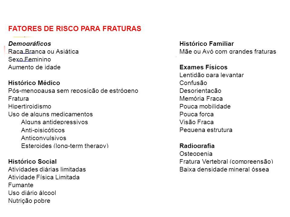 FATORES DE RISCO PARA FRATURAS