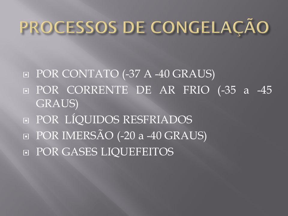 PROCESSOS DE CONGELAÇÃO
