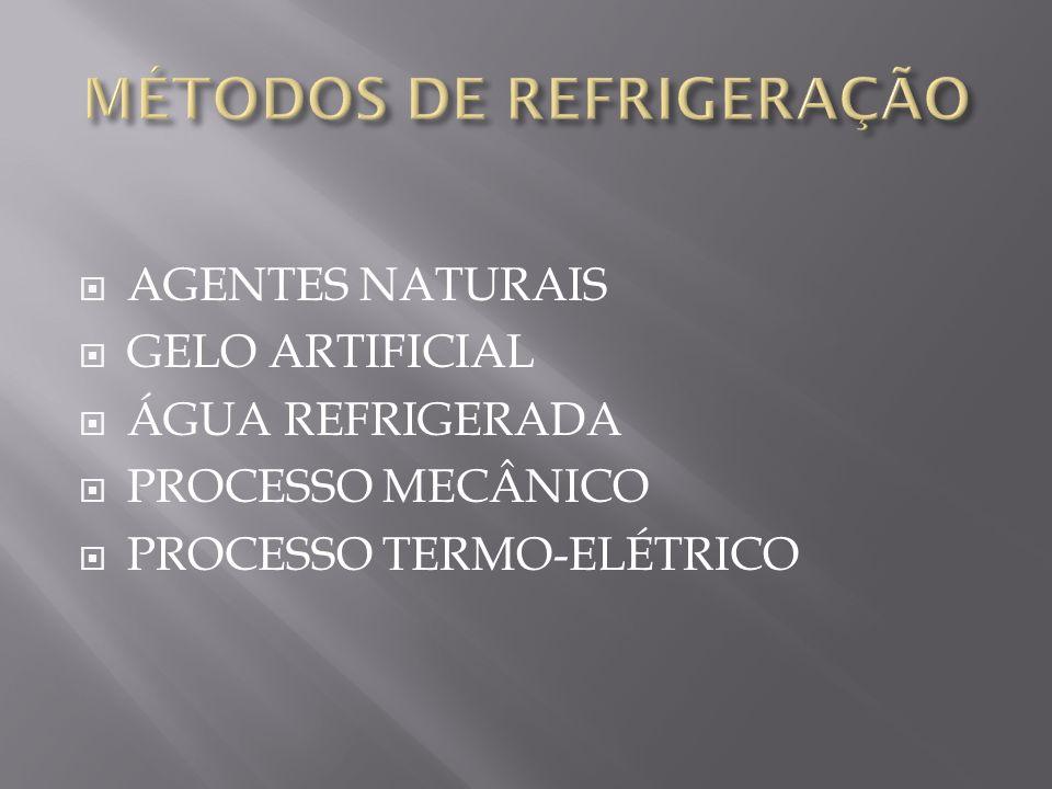 MÉTODOS DE REFRIGERAÇÃO