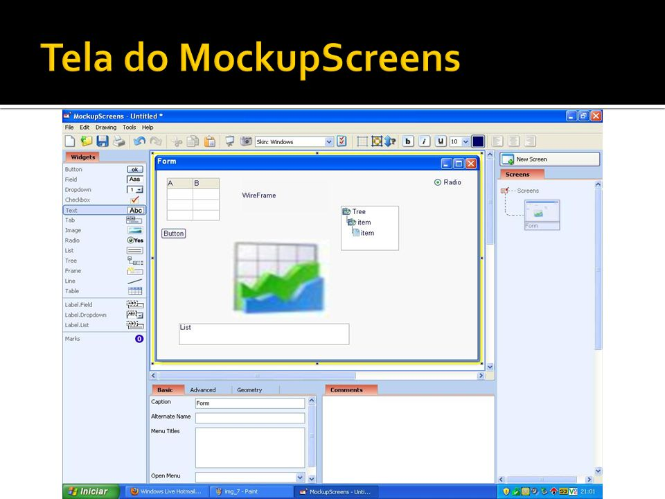 Tela do MockupScreens