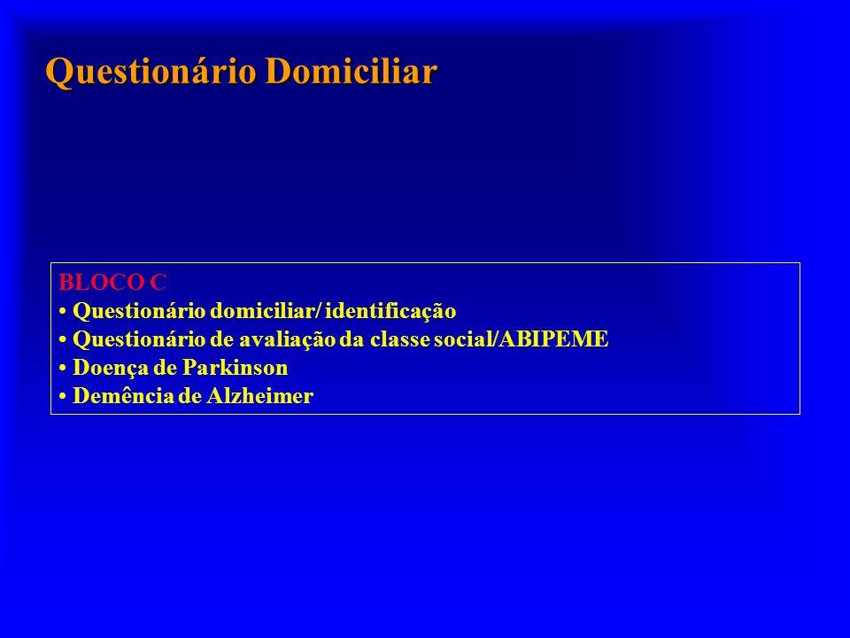 Questionário Domiciliar