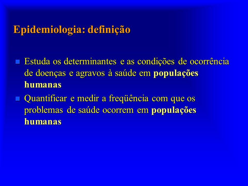 Epidemiologia: definição