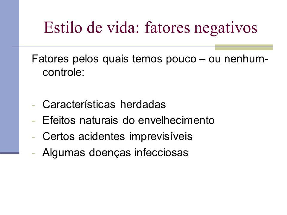 Estilo de vida: fatores negativos
