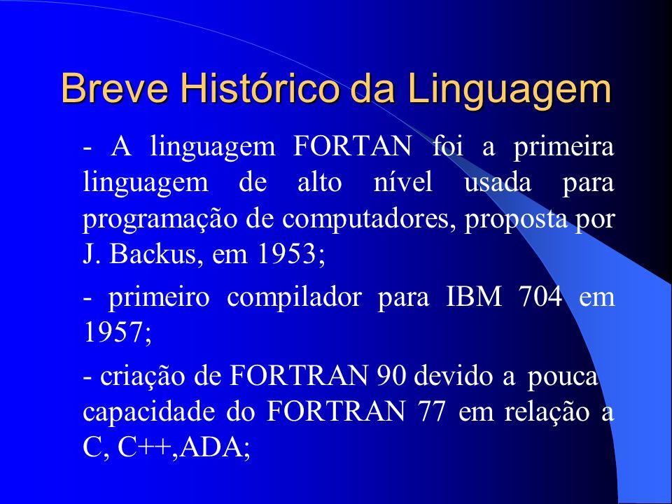 Breve Histórico da Linguagem