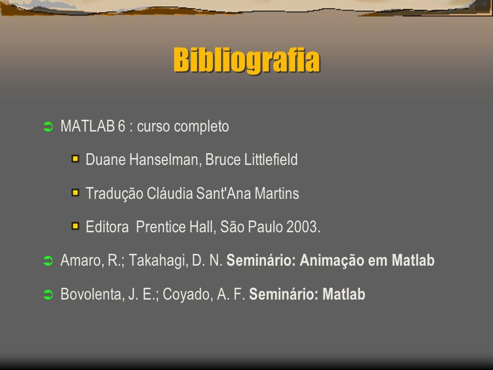 Bibliografia MATLAB 6 : curso completo