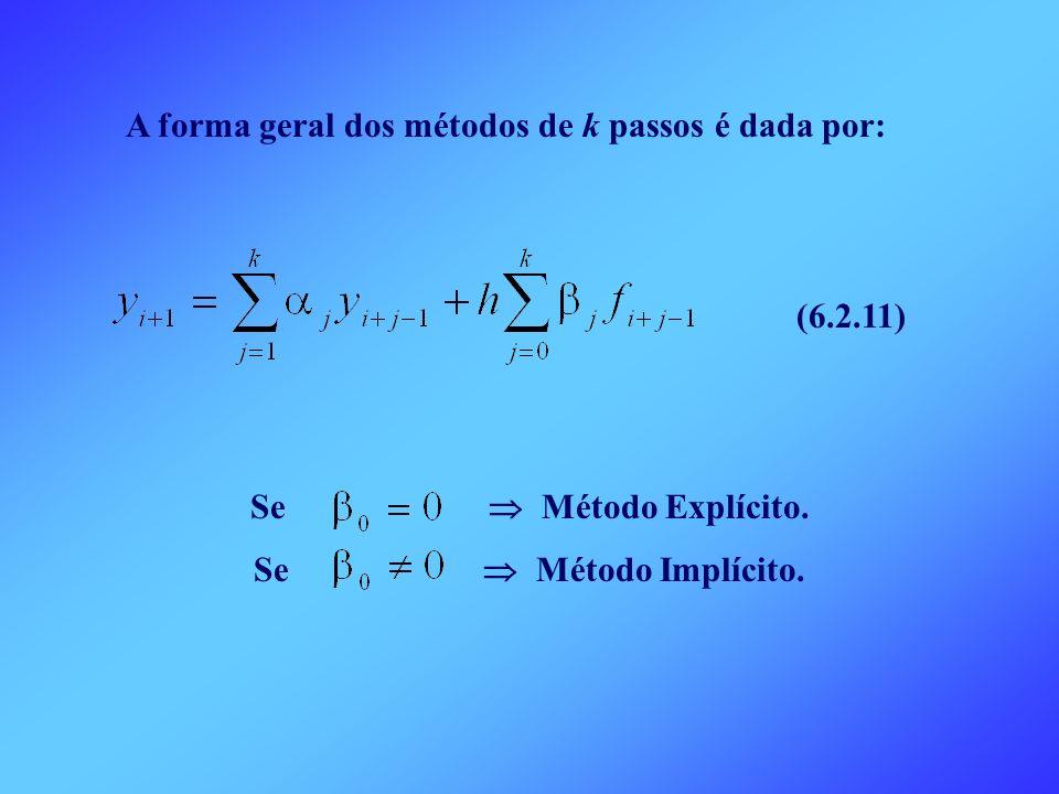 A forma geral dos métodos de k passos é dada por: