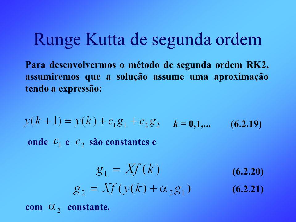 Runge Kutta de segunda ordem