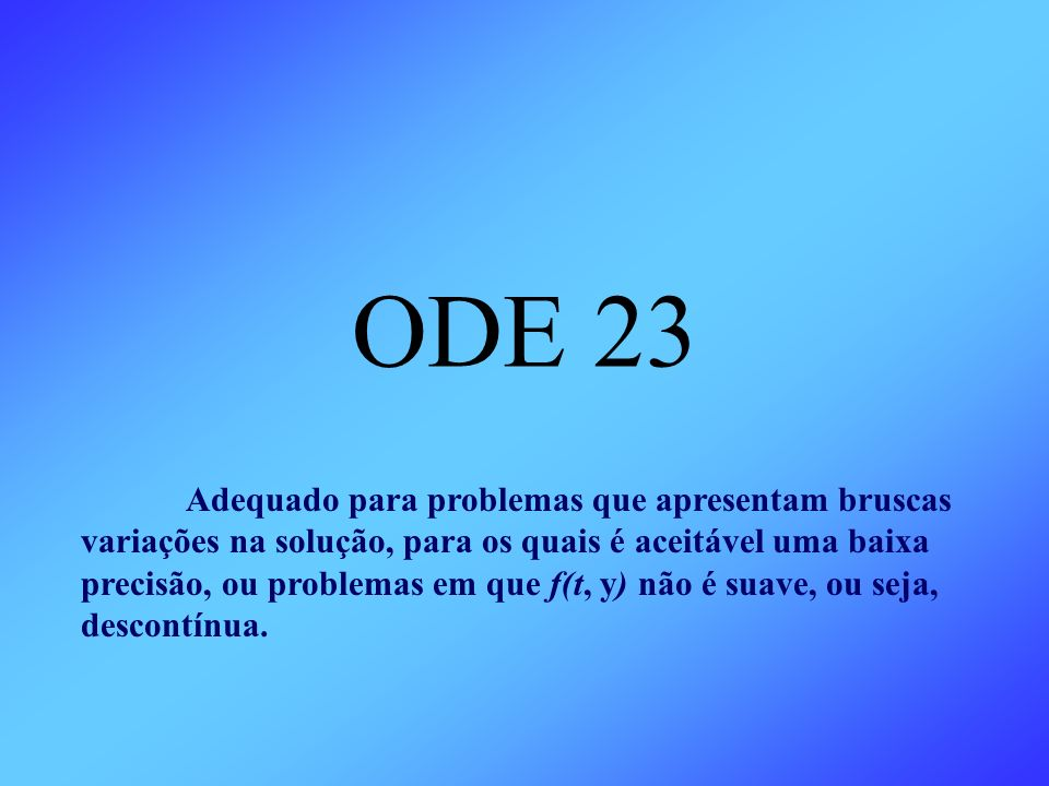 ODE 23