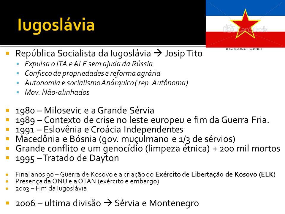 Iugoslávia República Socialista da Iugoslávia  Josip Tito