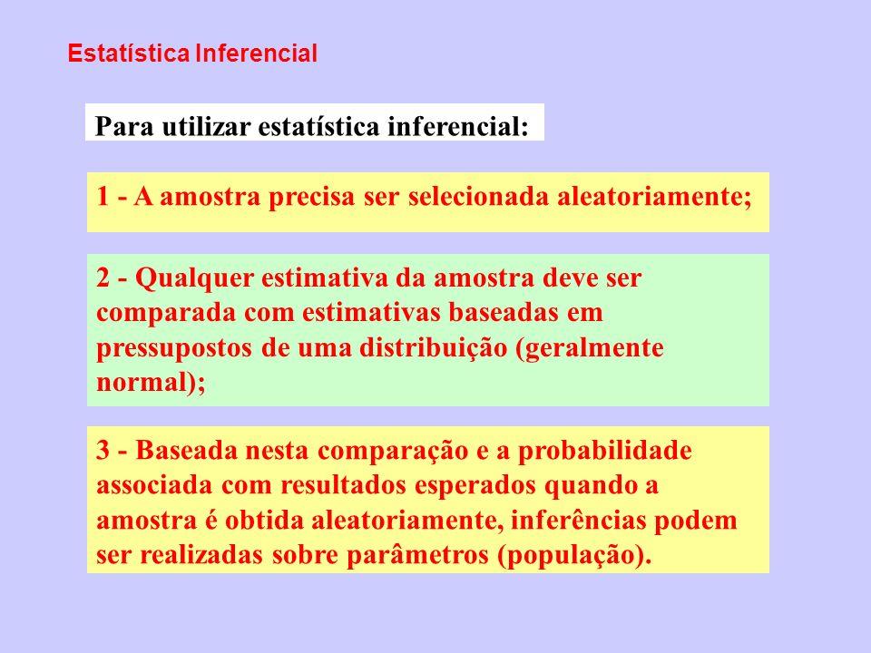 Para utilizar estatística inferencial: