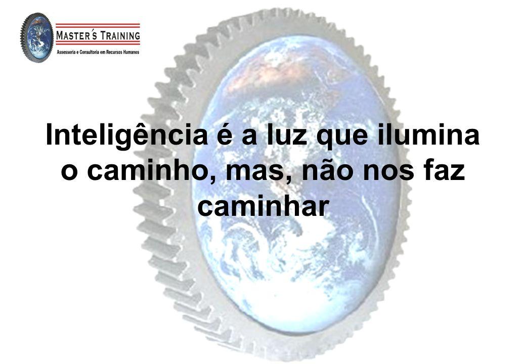 Inteligência é a luz que ilumina o caminho, mas, não nos faz caminhar