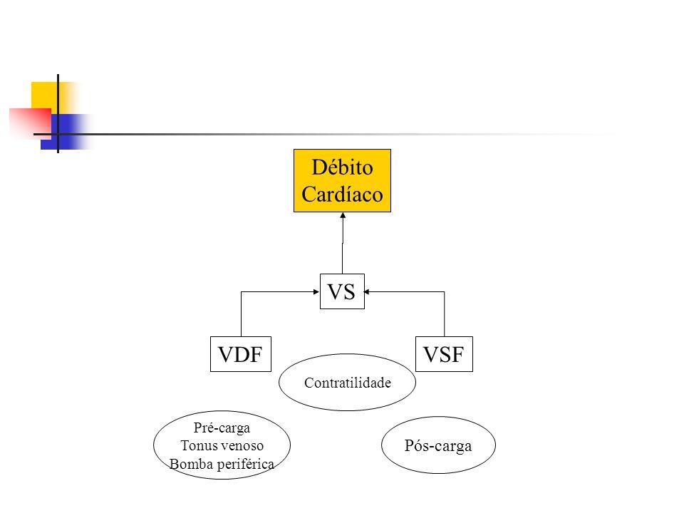 VS VDF VSF Débito Cardíaco Pós-carga Contratilidade Pré-carga