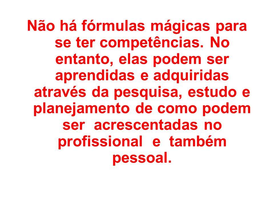Não há fórmulas mágicas para se ter competências