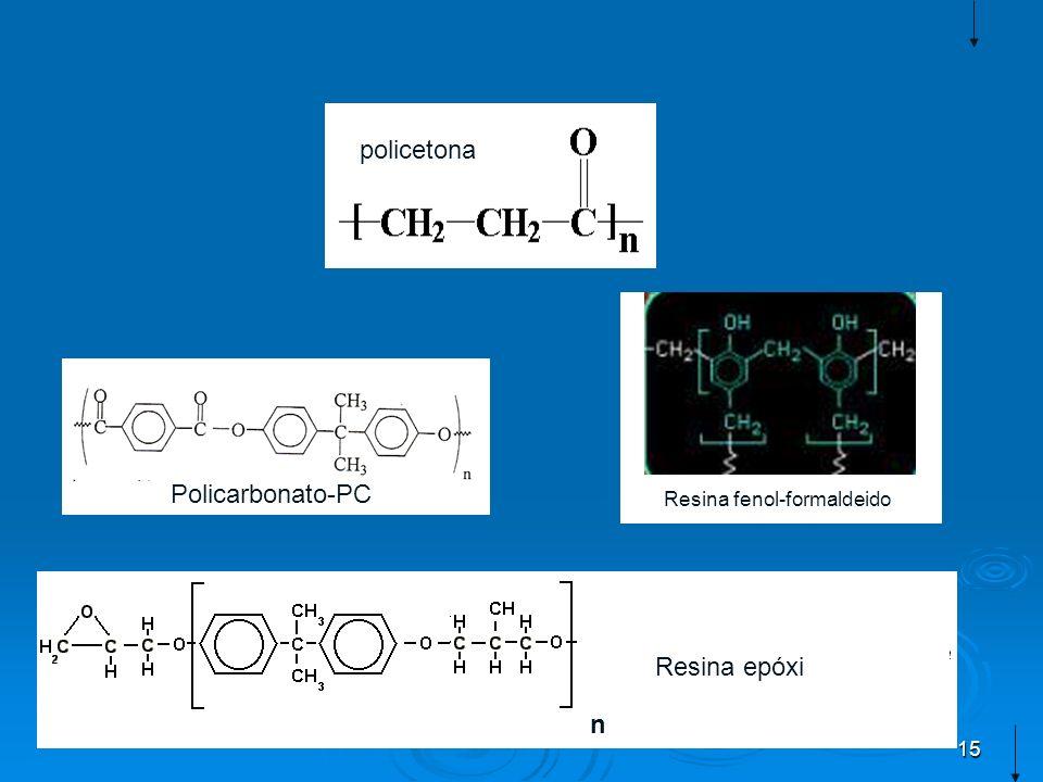 policetona Policarbonato-PC Resina fenol-formaldeido Resina epóxi n