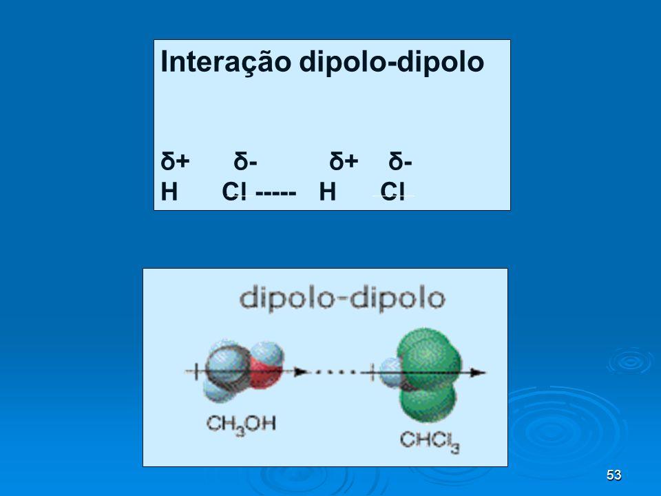 Interação dipolo-dipolo