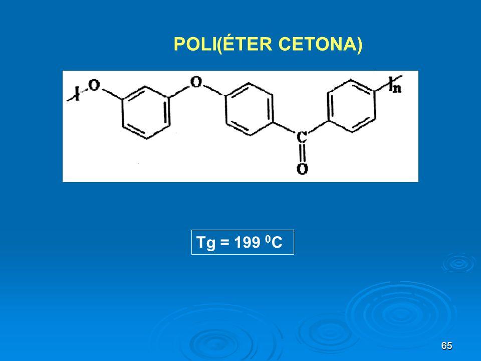POLI(ÉTER CETONA) Tg = 199 0C